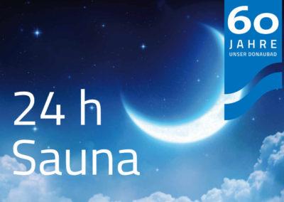 """24 h Sauna """"60 Jahre – 60 Aufgüsse"""" am 12.10.2019"""