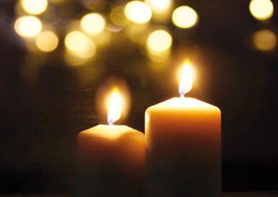 Candlelight-Swimming von Oktober – März