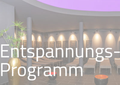 Entspannungsprogramm im Meditionsraum der Sauna (mehrmals wöchentlich / nicht in Ferien)